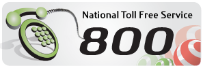 toll free and 800 and service